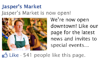Facebook RHS Page AD