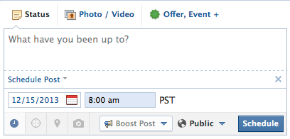 Page Post Scheduling Interface [after]