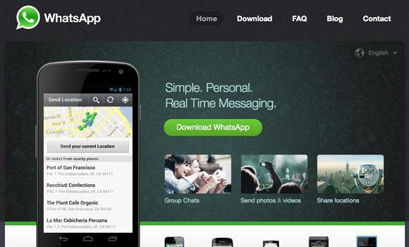 what's app homepage